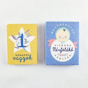 Kisbaba mérföldkő kártyák