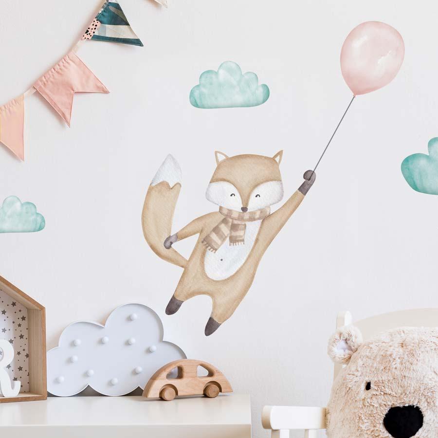 gyerekszoba dekoráció rókával